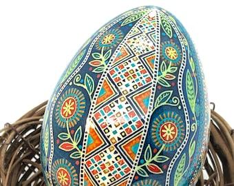 Turkey Pysanka Egg, Ukrainian Easter egg, Traditional pysanky art, Unique Gift idea, Nova Scotia, wedding gift, batik egg,  gift for her