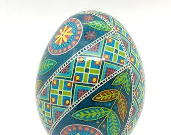 Pysanka Egg, Ukrainian Easter egg, Colorful Floral Pattern, Traditional pysanky art, Unique Gift idea, Nova Scotia, wedding gift, batik egg