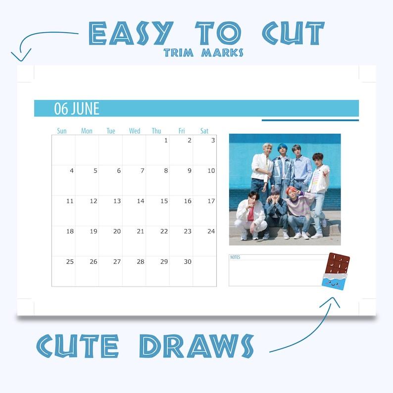 BTS k-pop Desk Calendar printable/Planner 2021 DYNAMITE | Etsy