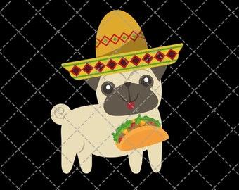 Cross Body Cell Phone Boho Bag pugs and tacos