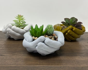 Hands Planter - Hand Bowl - Storage Tray - Organizer - Hands Plant Pot - Jewelry Holder
