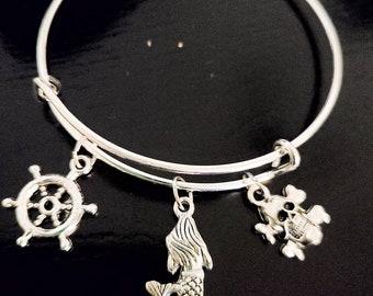 Gift for Sister whale tail charm,Mermaid fishtail Mermaid Jewelry Mermaid Bracelet Mermaid tail jewellery Mermaid bangle School pal