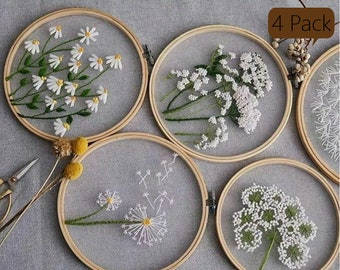 Mothers Day YP053 Embroidery Kit For Beginner diy Kit Embroidery,diy Kit adult Embroidery Kit floral Embroidery Kit dandelion