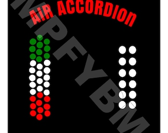 Air Accordion digital file - SVG PDF PNG - Great for making a shirt or decal