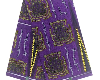 Purple Themed Ankara Print Fabric in Resin Jewelry Set