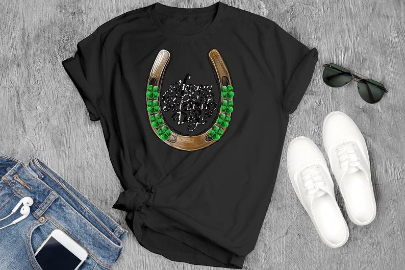 Patricks Day Png Horseshoe Png File Sublimation Digital Download St Patricks Day Sublimation Design Happy St Lucky Cowhide