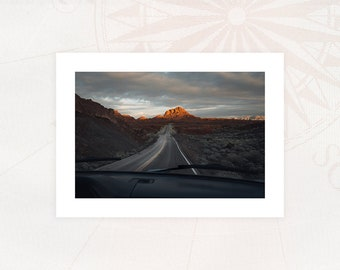 """Map """"NEVADA"""" Photography 13x18 cm with white borders Limited Edition"""