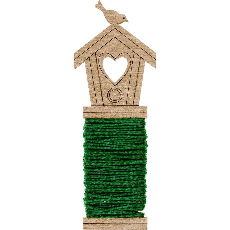 Wooden needlework floss keeperFloss BobbinThread HolderYarn KeeperEmbroidery Floss KeeperSet of 6