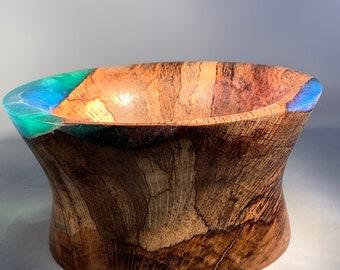 wood bowl, wood and resin bowl, gift bowl, handmade bowl, unique bowl,