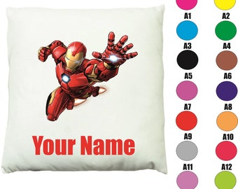 Suede or Satin in Two Sizes 45 x 45 cm 24 . 18 Marvel Iron Man Cushion Cover Pillow Cover or 60 x 60 cm