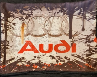 Pillow with the logo of your favorite car brand AUDI Gift Birthday,Christmas, father's day,Easter Present Custom, Grandfather's Day
