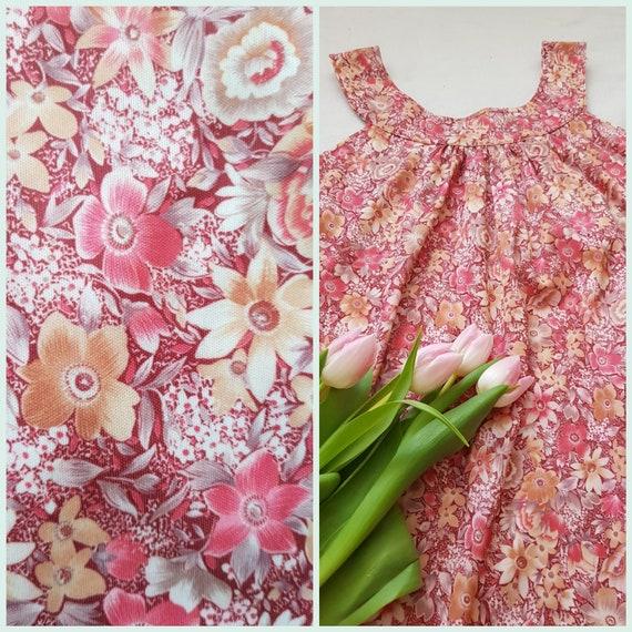 Vintage tent dress, 60s floral dress, summer beac… - image 1