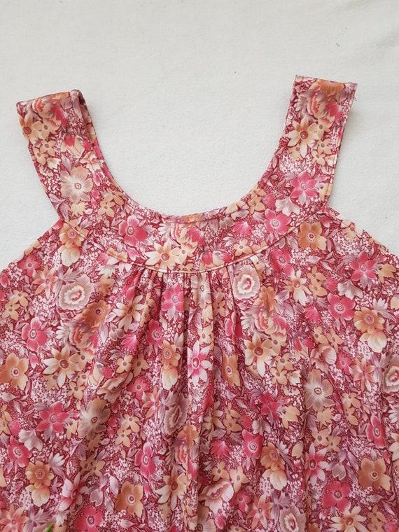 Vintage tent dress, 60s floral dress, summer beac… - image 4