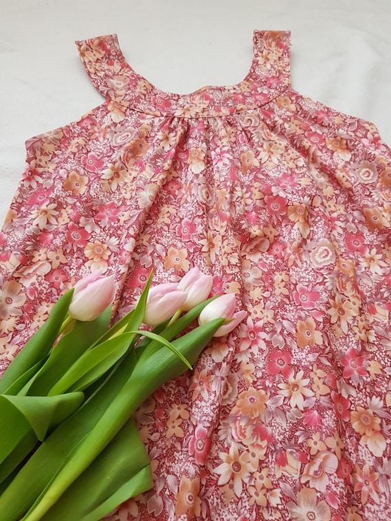 Vintage tent dress, 60s floral dress, summer beac… - image 2