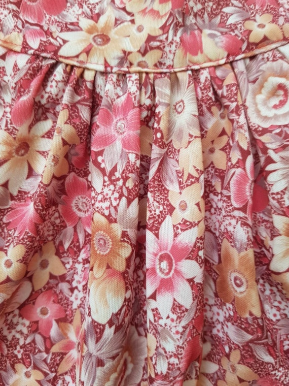 Vintage tent dress, 60s floral dress, summer beac… - image 3