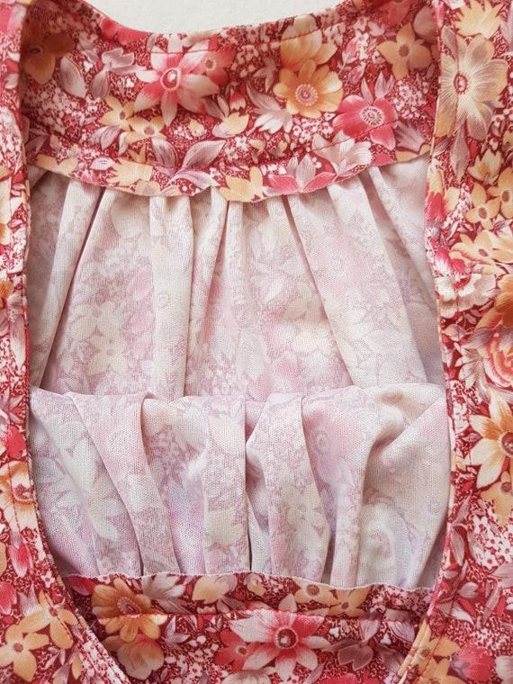 Vintage tent dress, 60s floral dress, summer beac… - image 5