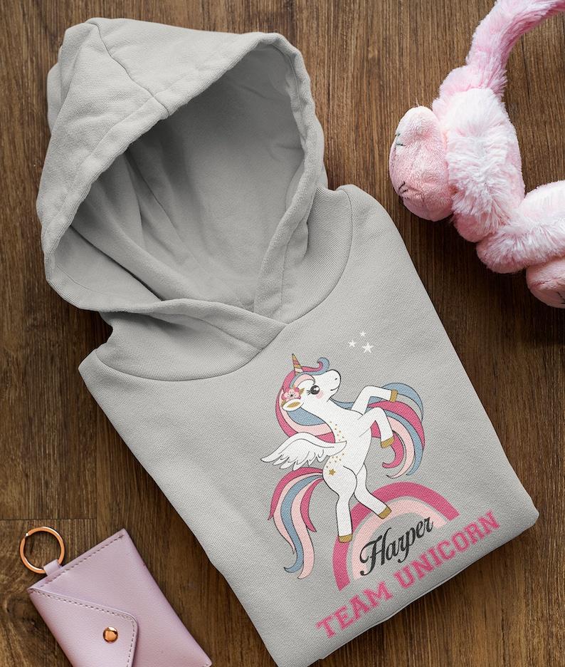 Girls Unicorn Hoodie Toddler Hoodie Custom Unicorn Gift. Kids Rainbow Hoodie Kids Personalised Hoodie Personalised Unicorn Hoodie