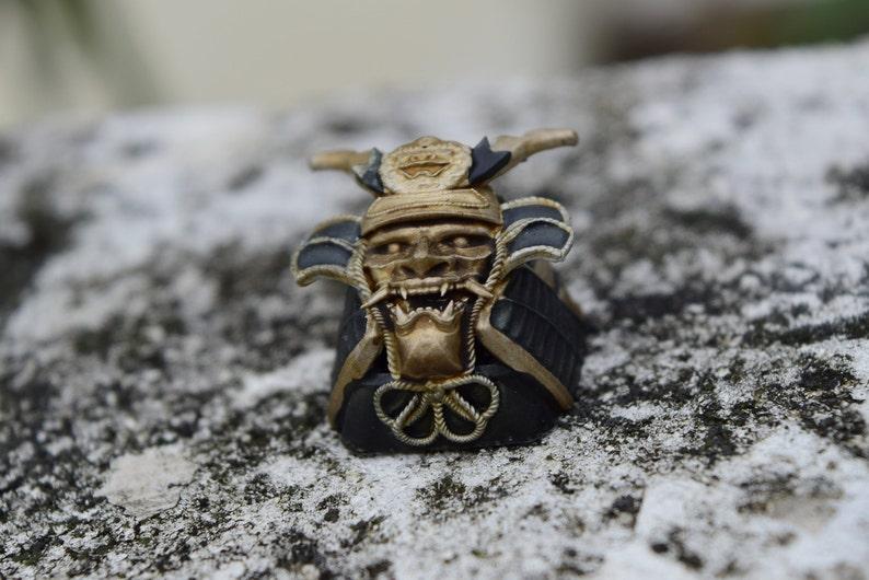 Keycap Japanese Samurai helmet resin keycap gift 04 CUSTOM ABLE