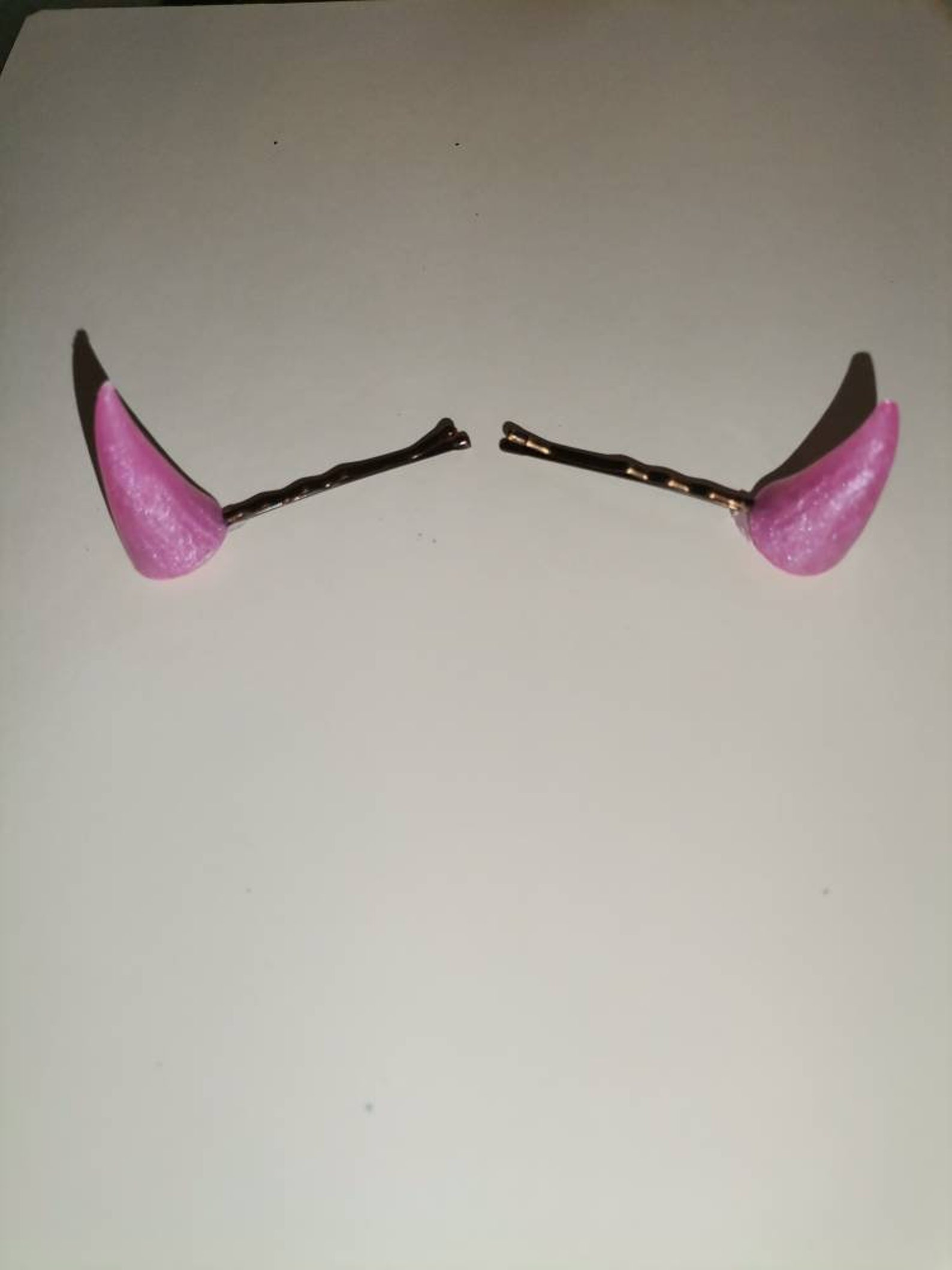 Rosa Dämon Teufel Horn Haarspangen Cosplay Petplay Kuh   Etsy