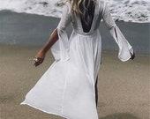 Boho style long dress women beach summer dresses beach cover up white maxi dress vestidos de festa (ONE SIZE)