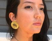 Medium Rainbow Shield Earrings