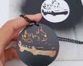 Stencil Necklace