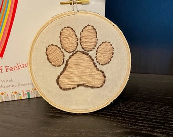 Paw Print Embroidery Piece
