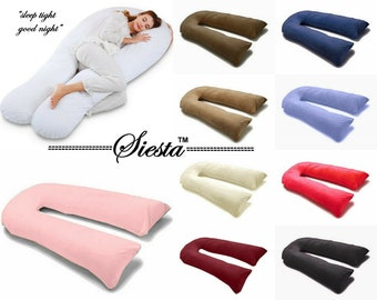 12Ft U Pillow Body/Bolster Support Maternity Pregnancy Support Pillowcase ONLY