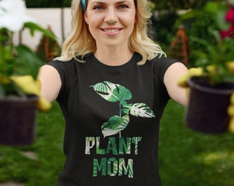 Plant Mom Shirt, Houseplant Shirt, Plant Lover Shirt, Crazy Plant Lady Shirt, Retro Plant Womens Shirt, Plant Lover Gift, Botanical Shirt
