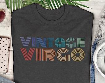 Vintage Virgo Zodiac Sign T-shirt, Retro Style Virgo Shirt, Virgo Birthday Gift, Astrological Zodiac Sign Shirt, September Birthday