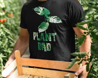 Plant Dad T-shirt, Plant Dad Gift, Mens Gardening Shirt, Plant Lover Garden Shirt, Plant Daddy Shirt, Botanical Pattern Plant Shirt for Man