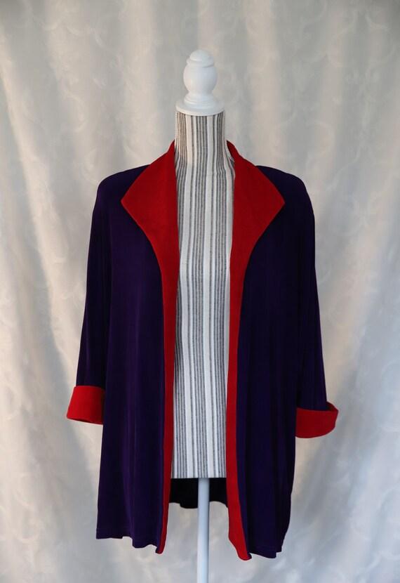90s Vintage Jacket ~ size large ~ size xl ~ purple