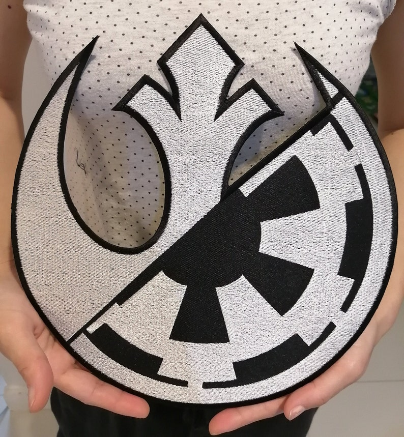 Large Rebel Alliance Galactic Star Wars Squadron Jedi Symbol Embroidered Iron-on  Sew-On Patch
