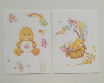Vintage 1981 Care Bear Trading Cards - Milano - Care Bear Cards