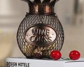 Iron Wine Cork Container/Wine Barrel Cork Holder/Cork Storage/Table Decor/Home Decoration