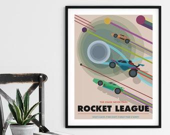 rocket league poster etsy