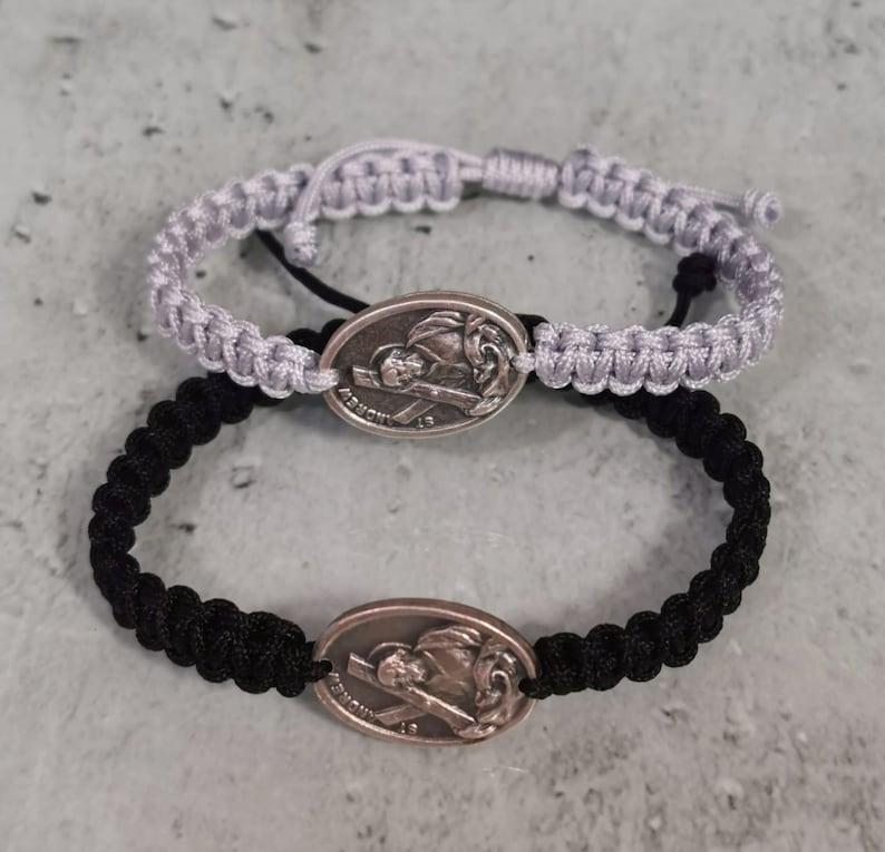 Religious Gift Saint Protection Catholic Patron of Stroke Victims and Singers St Andrew Medal Bracelet For Men Women Kids