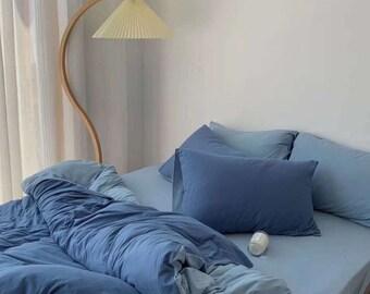 blue bedding set etsy