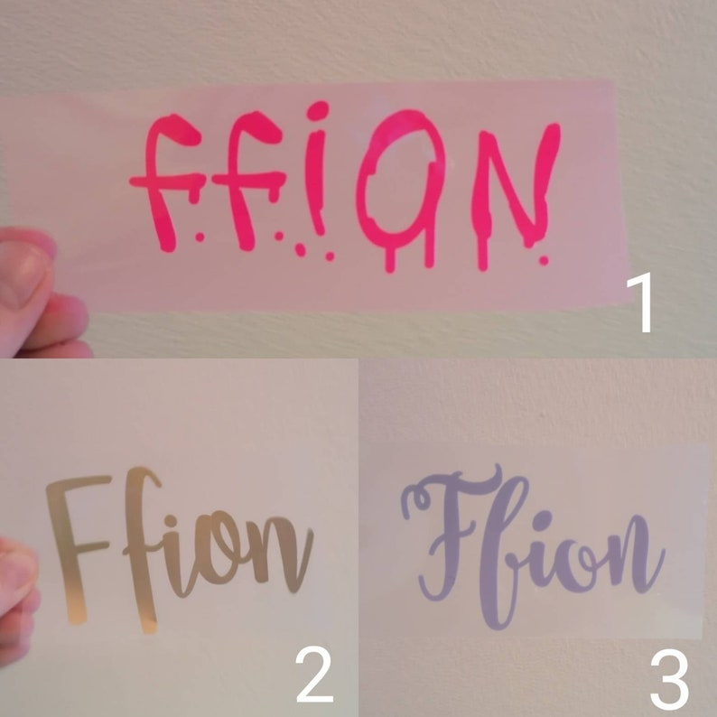 new baby Iron on vinyl decal personalised Custom name kids craft projects HTV transfer t shirt press vinyl
