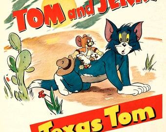 Tom and Jerry 1965 cult movie cartoon poster print