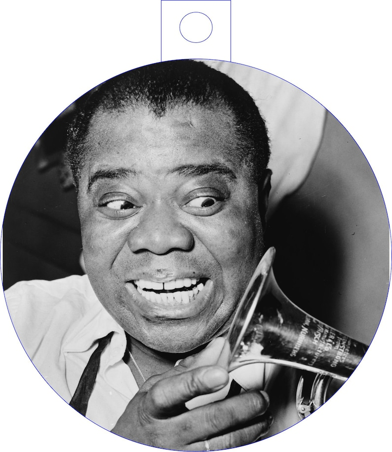 African American Louis Armstrong  Christmas and Holiday Ornament
