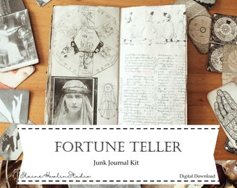 Fortune Teller Junk Journal Kit | Print at home for junk journaling, scrapbooking and crafting