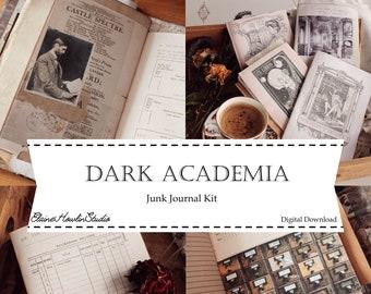 Dark Academia Librarian Junk Journal Kit | Print at home for junk journaling, scrapbooking and crafting