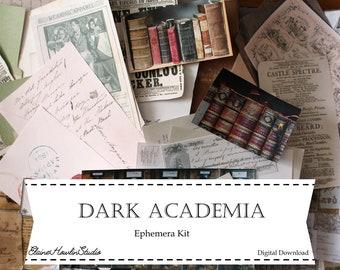 Dark Academia Librarian Ephemera Bundle