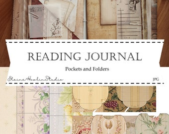 Rustic Vintage Pockets and Mini Folders for Reading Journals, Junk Journaling, Scrapbooks and Crafting