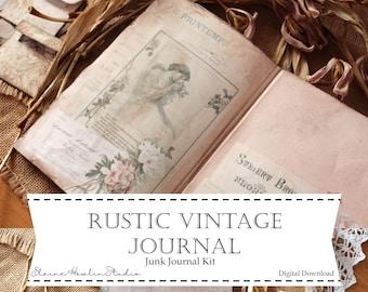 Rustic Vintage Junk Journal Kit