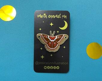 Moth Enamel Pin | Gold Nature Pin