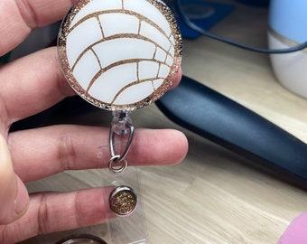 Fuschia Concha Badge Reel