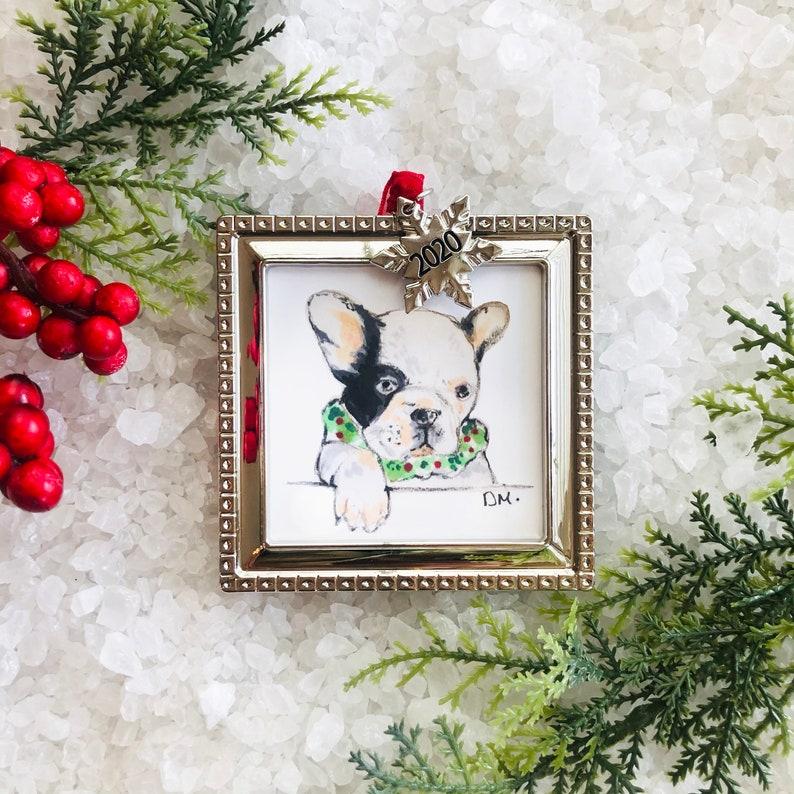 Cat  Dog Digital custom pet portrait ornament style