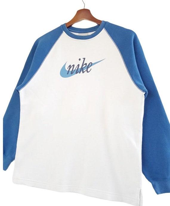 Nike Classic Logo Crewneck Raglan Sweatshirt - image 3
